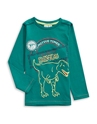 Bob Der Bar Dino Print T-Shirt-GREEN-4