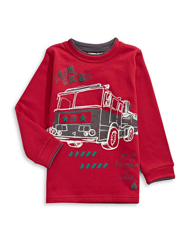 Bob Der Bar Fire Truck Sweatshirt-RED-2