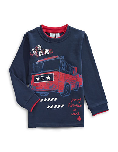 Bob Der Bar Fire Truck Sweatshirt-BLUE-5-6