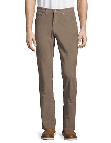 Black Brown 1826 Pigment Corduroy Pants-BROWN-40X32