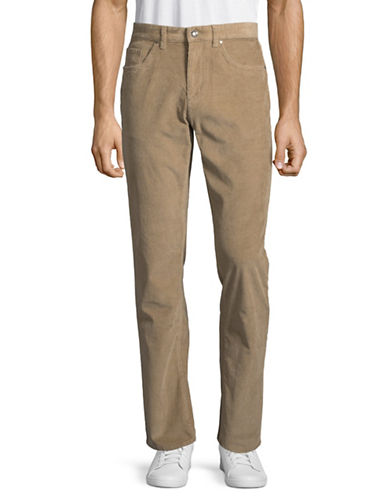 Black Brown 1826 Corduroy Pants-NATURAL-40X30
