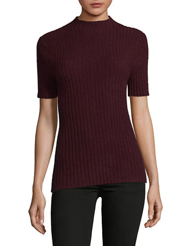 Lord & Taylor High Neck Cashmere Sweater-BEGONIA-X-Large