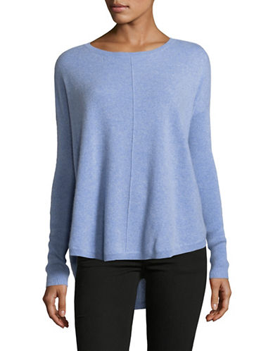Lord & Taylor Woven Cashmere Sweater-GLACIER HEATHER-Large