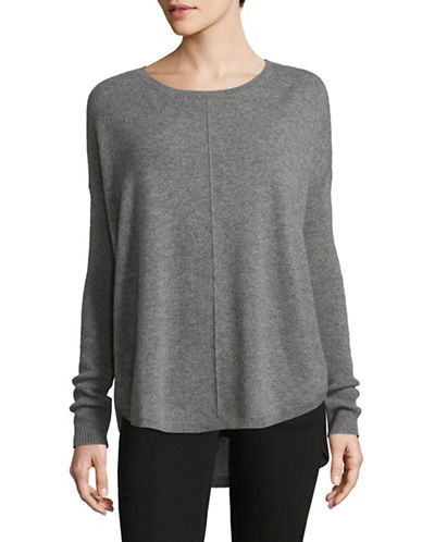 Lord & Taylor Woven Cashmere Sweater-PEWTER HEATHER-Large