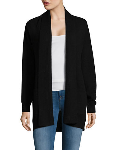 Lord & Taylor Knitted Cashmere Cardigan-EBONY-Medium