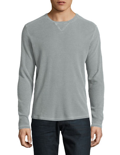 Black Brown 1826 Long Sleeve Crew Neck Top-GREY-Medium