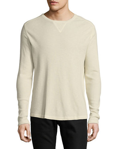 Black Brown 1826 Long Sleeve Crew Neck Top-PALE GREY-Large