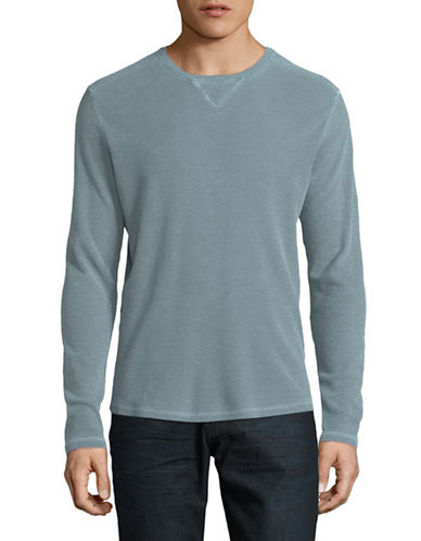 Black Brown 1826 Long Sleeve Crew Neck Top-PALE BLUE-X-Large