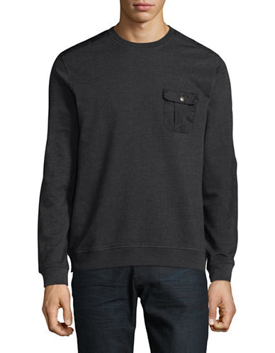 Black Brown 1826 Crew neck T-Shirt-BLACK-X-Large