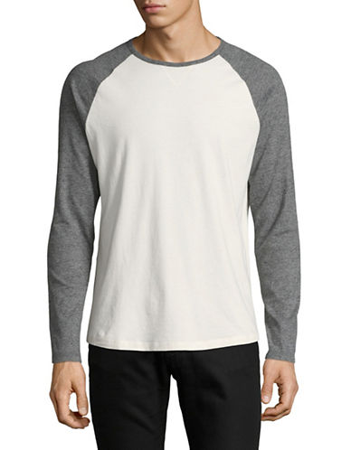 Black Brown 1826 Cotton Jersey Raglan Shirt-GREY-Medium 89267296_GREY_Medium