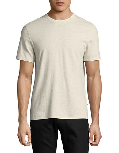 Black Brown 1826 Layered Trim T-Shirt-BEIGE-X-Large