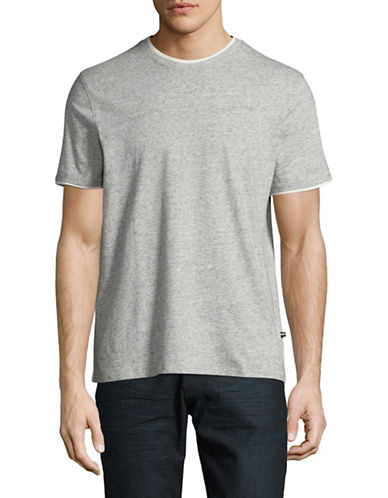 Black Brown 1826 Layered Trim T-Shirt-GREY-Medium