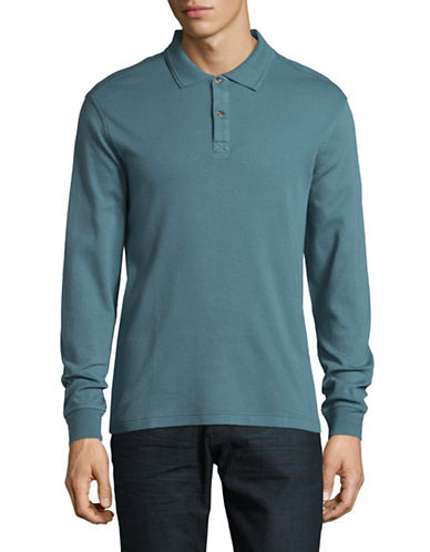 Black Brown 1826 Interlock Cotton Polo-TURQUOISE-Medium