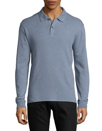 Black Brown 1826 Interlock Cotton Polo-SKY BLUE-Medium