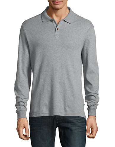 Black Brown 1826 Interlock Cotton Polo-DUSTY GREY-Large