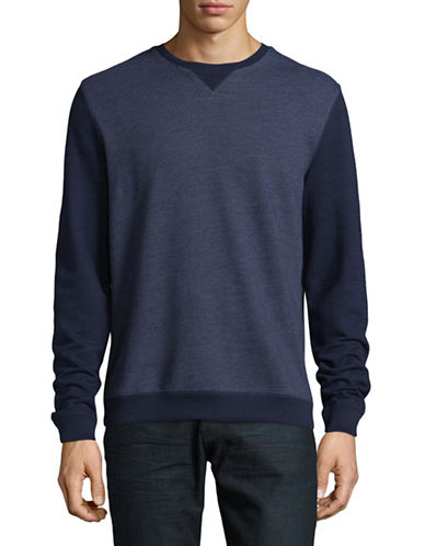 Black Brown 1826 Colourblock Crew Neck Sweater-NAVY-X-Large