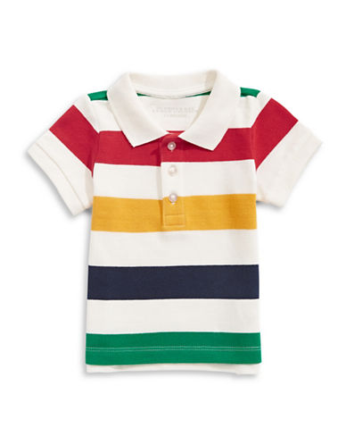 HudsonS Bay Company Baby Multistripe Pique Polo-MULTI-COLOURED-12-18 Months