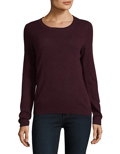 Lord & Taylor Crew Neck Cashmere Sweater-BEGONIA-Medium