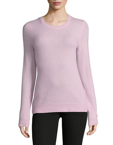 Lord & Taylor Crew Neck Cashmere Sweater-VINTAGE LILAC-Small