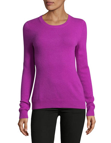 Lord & Taylor Crew Neck Cashmere Sweater-VIOLA-Small