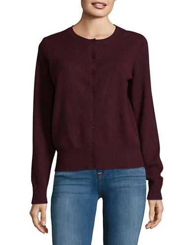 Lord & Taylor Cashmere Cardigan-BEGONIA-Large