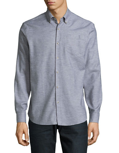 Black Brown 1826 Micro Stripe Sport Shirt-GREY-Small