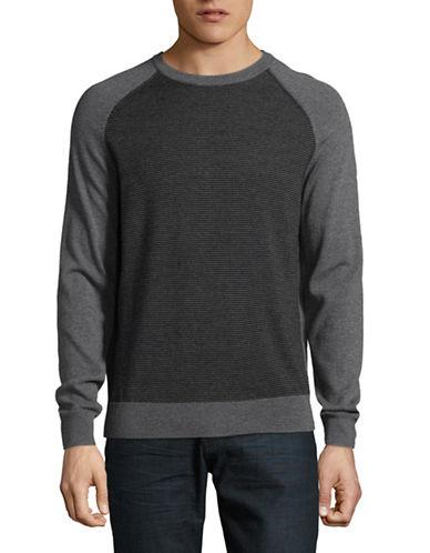 Black Brown 1826 Extrafine Merino Wool Sweater-GREY-Large
