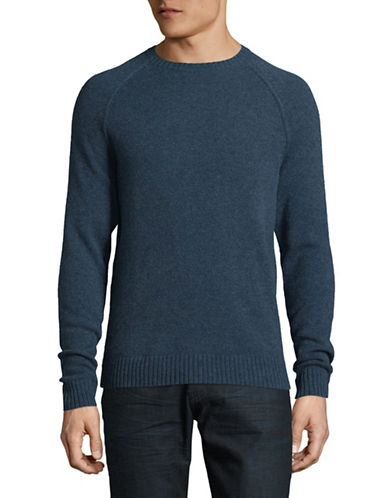 Black Brown 1826 Crew Neck Lambswool Sweater-TEAL-XX-Large