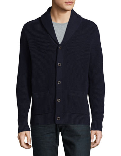 Black Brown 1826 Shawl Collar Cardigan-NAVY-XXX-Large