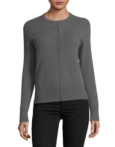 Lord & Taylor Cashmere Cardigan-PEWTER HEATHER-X-Small
