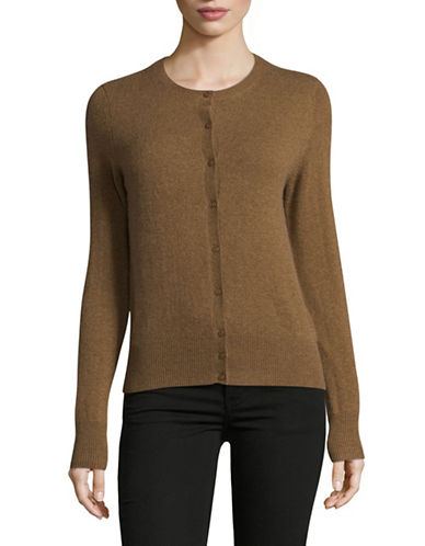Lord & Taylor Cashmere Cardigan-SANDSHELL-Medium