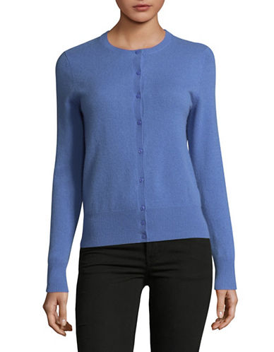 Lord & Taylor Plus Cashmere Cardigan-ARCTIC HEATHER-1X