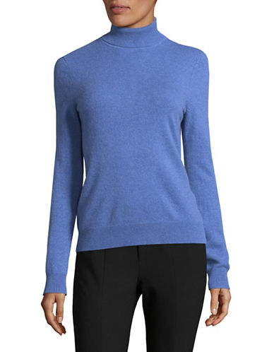 Lord & Taylor Cashmere Turtleneck Sweater-ARCTIC HEATHER-X-Large
