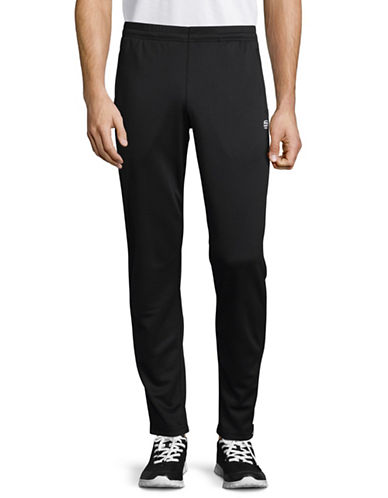 Manguun Quick-Dry Zip-Trim Jogging Pants-BLACK-Small