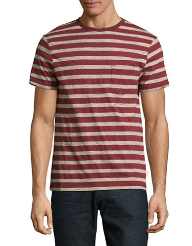 Manguun Striped T-Shirt-PINK-Medium