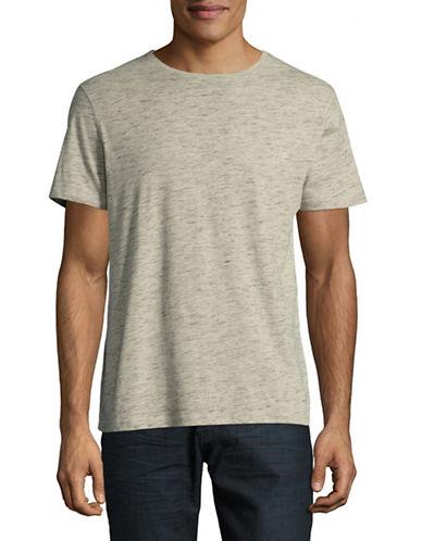 Manguun Marled Crew T-Shirt-BEIGE-X-Large