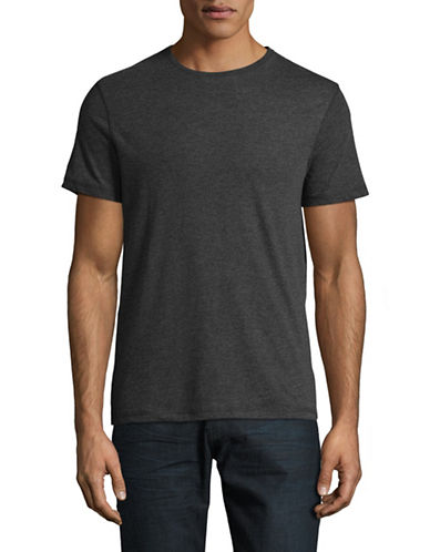 Manguun Marled Crew T-Shirt-CHARCOAL-Medium