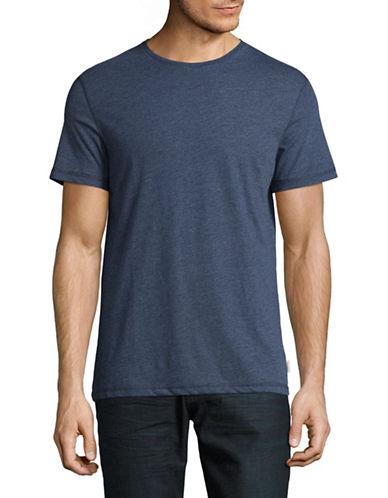 Manguun Marled Crew T-Shirt-BLUE-Small