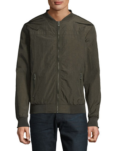Manguun Lightweight Bomber Jacket-DARK GREEN-Small