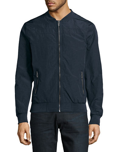 Manguun Lightweight Bomber Jacket-DARK BLUE-Large