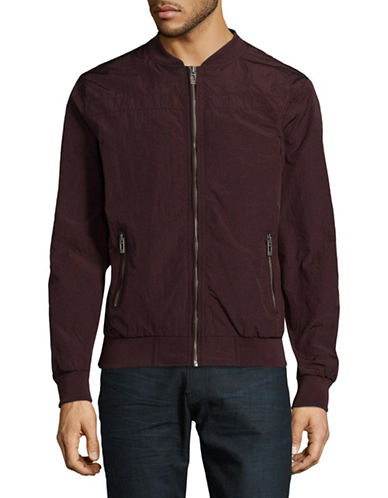 Manguun Lightweight Bomber Jacket-RED-Medium