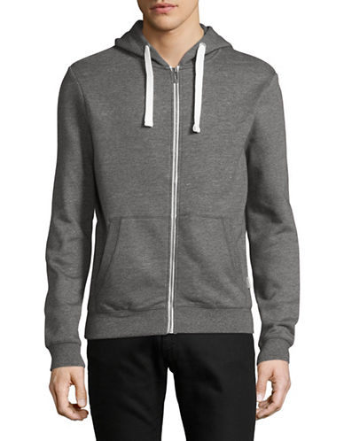 Manguun Full Zip Sweatshirt Hoodie-GREY-Large