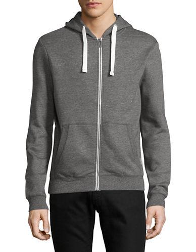 Manguun Full Zip Sweatshirt Hoodie-GREY-Small