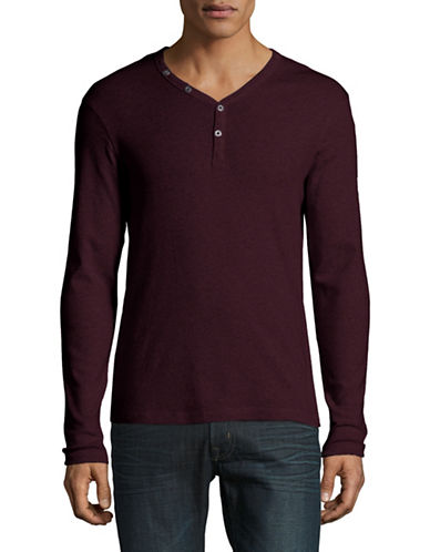 Manguun Organic Cotton Henley-PURPLE-X-Large