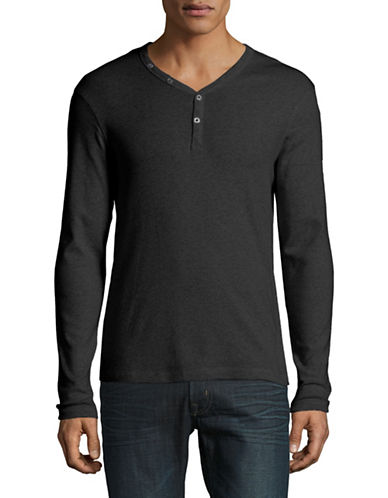 Manguun Organic Cotton Henley-BLACK-Large