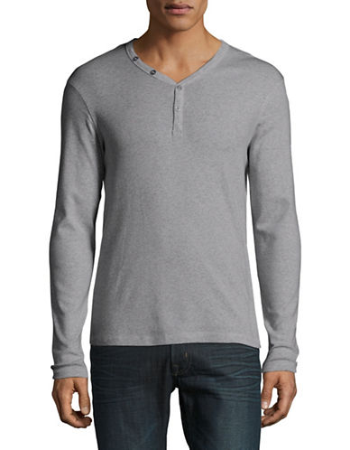 Manguun Organic Cotton Henley-GREY-Large
