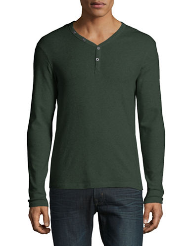 Manguun Organic Cotton Henley-GREEN-Small