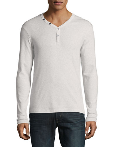 Manguun Organic Cotton Henley-WHITE-X-Large