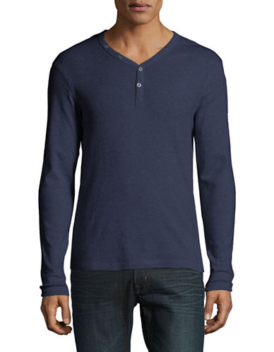 Manguun Organic Cotton Henley-NAVY-Small