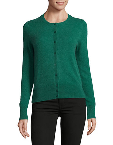 Lord & Taylor Cashmere Cardigan-TURQUOISE-Medium